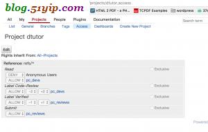 gerrit项目用户权限设置