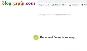 onlyoffice服务端配置成功